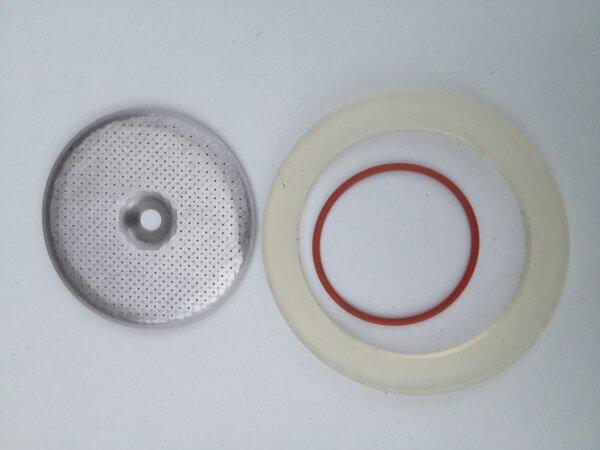 Lelit   Revidierungs-Set aus 2x Brühkopfdichtung (MC047,MC195), 1x Duschensieb   57 mm.